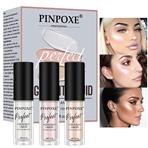 Flüssiger Highlighter, Liquid Highlighter, Flüssigkeit Highlighter, Make Up Highlighter, Highlighting Drops, Augen Gesicht Glitzer Brighten Konzentrierte Beleuchter Bronze Drops Make Up Highlighter