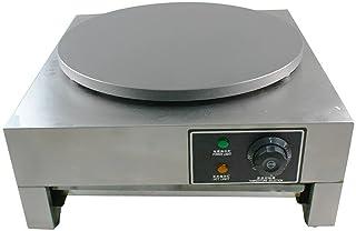 Crepe Maker 220 V crepejärn (Ø 40 cm, 3 000 W, temperatur steglöst justerbar från 50–300 °C, rostfritt stål, inklusive trä...