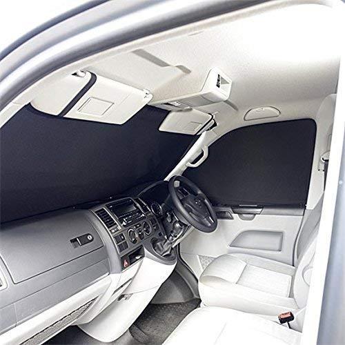 UK Custom Covers SB160 Luxus Innenraum Vorne Windschutzscheibe - Schwarz