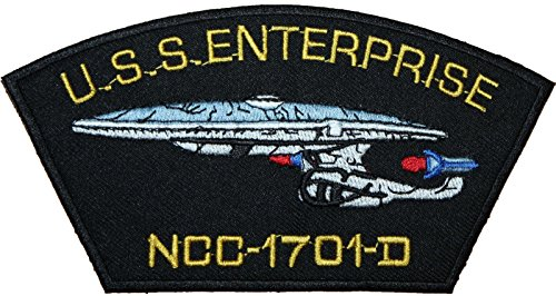 Star Trek Enterprise ncc-1701-d Badge bestickt Patch 15,2cm Aufnäher oder zum Aufbügeln