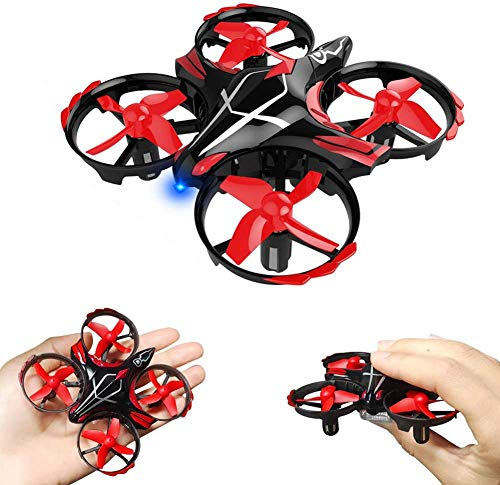 Mini Drone RC Nano Quadcopter Best Drone for Kids and Beginners RC Helicopter Plane with Auto Hovering, 3D Flip, Headless Mode and Extra Batteries Toys for Boys and Girls, Best Gift