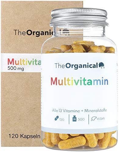 TheOrganical® natürliche Multivitamin Kapseln | Alle Vitamine von A-Z und Mineralstoffe | Nur eine Kapsel pro Tag | Hergestellt in Hamburg