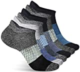Athletic Socks for Women - Ladies Ankle Socks - No Show Low Cut Cushioned Performance Sports Tab Socks with Arch Support for Running, Hiking, Workout and More - Soft & Comfortable Fit - 6 Pack