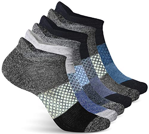 Athletic Socks for Women - Ladies Ankle Socks - No Show Low Cut Cushioned Performance Sports Tab Socks with Arch Support for Running, Hiking, Workout and More - Soft & Comfortable Fit - 4 Pack