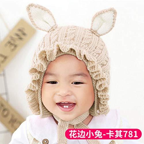 geiqianjiumai Nieuwe kant vrouwelijke baby wastafel cap oorbeschermers warme outdoor shopping cartoon schattige baby hoed