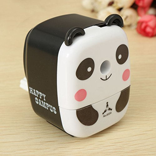 Cartoon Pencil Sharpener,PUQU Creative Cartoon Animal Pencil Sharpeners Handheld Panda Pattern