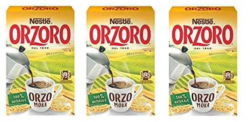 3x Nestle Orzoro Macinato Moka Instant lösliche Gerste Getreidekaffee kaffee 500g