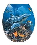 Wenko 19551100 Asiento de Inodoro Sea Life, Duroplast, Multicolor, 45x38x3 cm