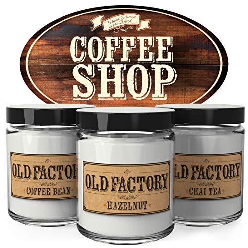 Old Factory Scented Candles - Coffee Shop - Decorative Aromatherapy - Handmade in The USA with Only...