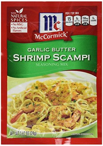 McCormick Garlic Butter Shrimp Scampi Seasoning Mix, 0.87 OZ (Pack - 4)