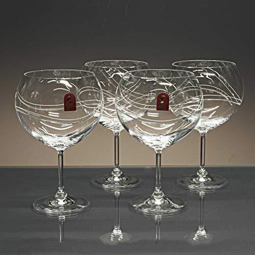 Juego 4 Copas de Cristal para Gin&Tonic - talladas a Mano - colección Gin&Tonic.