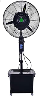 ventilador Humidificador Y Enfriamiento Torre De Piso Industrial Rociador De Nebulización Oscilante Silencioso, 3 Velocidades, Tanque De Agua De 40L, Residencial Comercial E Invernadero