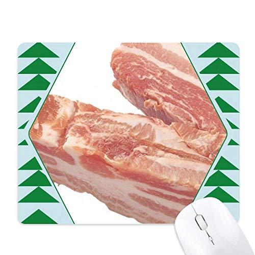 Vet Varkensvlees Ruw Vlees Voedsel Textuur Muis Pad Groen Pijnboom Rubber Mat