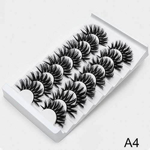 NO LOGO SSGFZ 8/20 Paires de Faux Cils naturels 3D de Faux Cils Maquillage Kit Lashes Extension Cils (Couleur : A4, Curl : CURL)