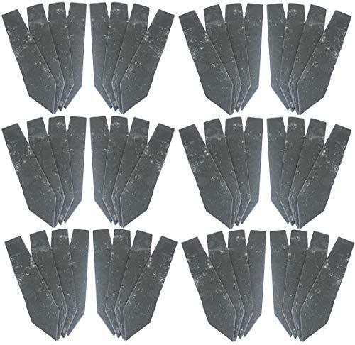 Novaliv Pflanzenschilder 12x4er Set Schiefer zum Beschriften Kräuterschilder Kräuterstecker (12, 4er Satz Schieferstecker)