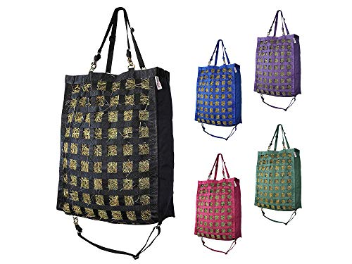 """Derby Originals Nylon 2"""" Square Supreme Slow Feed Horse Hanging HAY Bag with Super Tough Bottom and SIX Month Warranty"""