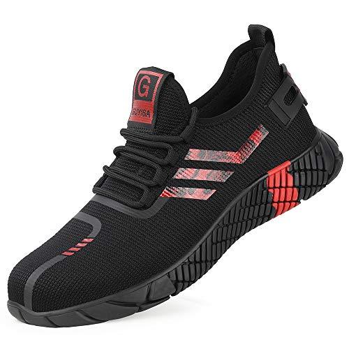 [Aoop] 安全靴 スニーカー 作業靴 メンズ レディース ハイカット ブーツ 鋼先芯 KEVLARミッドソール超軽量 防滑 通気性 セーフティーシューズ 耐摩耗 衝撃吸収 クッション性 おしゃれ アウトドア 登山靴 2003/42