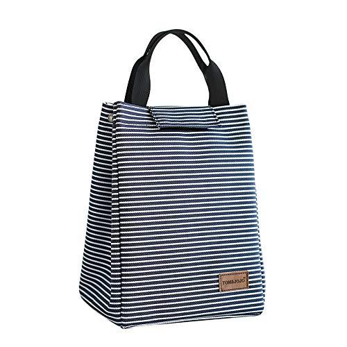 Yiumi Lunchbeutel Isoliertasche Dann, Wenn Die Tasche Oxford Tuch Aluminium Folie Isolierung Tasche Gestreift Handgepäck