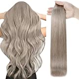 Full Shine Tape in Hair Extensions Human Hair 14 Inch Color 18 Ash Blonde Invisible Tape in Extensions 50 Gram 20 Pcs Seamless Hair Extensions Human Hair