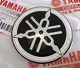 100% Original 50mm Durchmesser Yamaha Stimmgabel Aufkleber Emblem Logo Schwarz Erhöht Gewölbt Gel Harz Selbstklebend Motorrad Jet Ski /Atv / Schneemobil