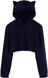 Lucky2Buy Womens OW D.Va Cute Bunny Cosplay Long Sleeve Hoodie Jumper Sweatshirt Blue /& White