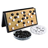 Larcele Folding Magnetic Go Game Set with Stones and Go Board for Travel CXWQ-01 (Small)
