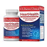 U.S. Doctors' Clinical HeartHealth Vitamineral Herbal Complex to Support a Healthy Heart, with Iron, Vitamin C, Vitamin E, Botanical Extracts (Packaging May Vary) [1 to 3 Month Supply – 90 Capsules]