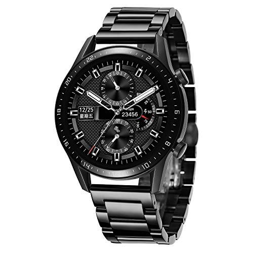 BINLUN Bandas de Reloj compatibles con Huawei GT / GT2 42mm 46mm / Huawei Watch 2 Classic/Sport Smartwatch Reemplazo de Banda de Acero Inoxidable 20mm 22mm Correas de Reloj de Metal para Hombres