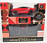 FAO F.A.O. 2.4GHZ Schwarz Sports Italia Car LED Headlights and Brakes Lights 1:50 Scale Red in Color Remote Control Car