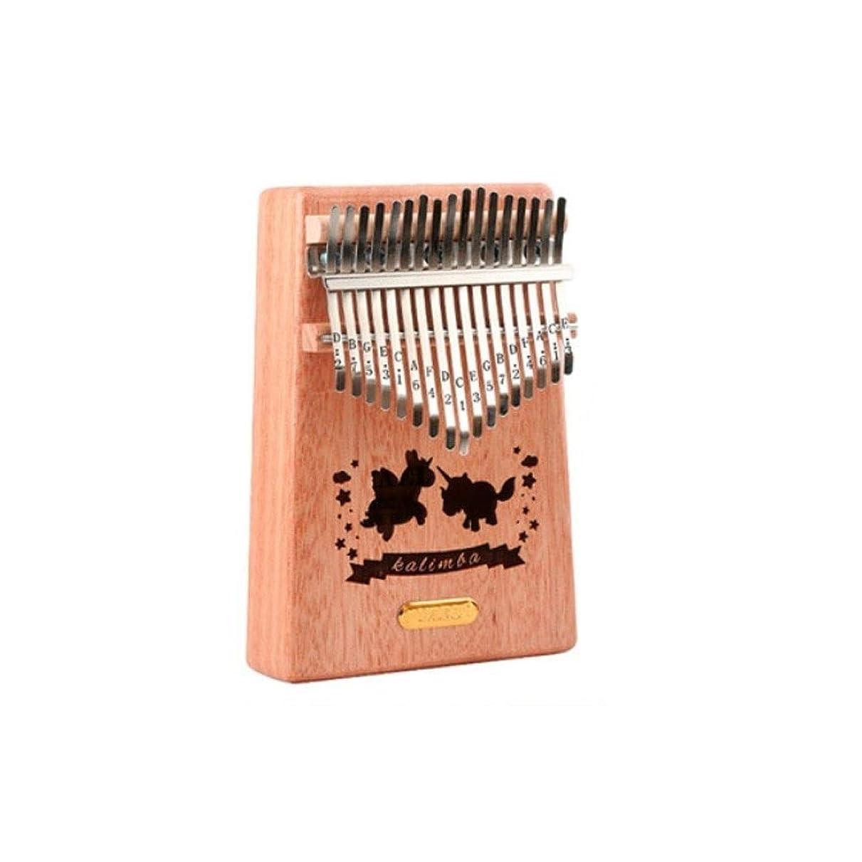 厳しい味わうトロピカルカリンバ、17音色の初心者用エントリカリンバ親指演奏、ポータブル親指ピアノ (Color : A)