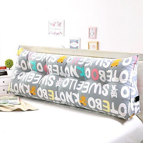 Double canapé triangle de chevet coussins/coton toile taille/lit double oreiller (taille : 70 * 22 * 50cm)