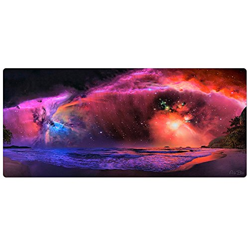 AliBli Gaming Mouse Pad XXL & Mouse Pad Black Extended Mat 90x40 (90X40 009chaoxi)