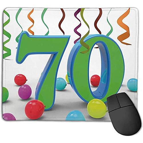 muismat muismat 70e verjaardag decoraties huis Party thema kleurrijke ballonnen krullen leuk beeld Varen groen en blauw Ope