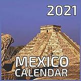 Mexico 2021 Calendar: Mexico 2021 - 2022 Calendar 16 Months 8.5 x 8.5 glossy paper