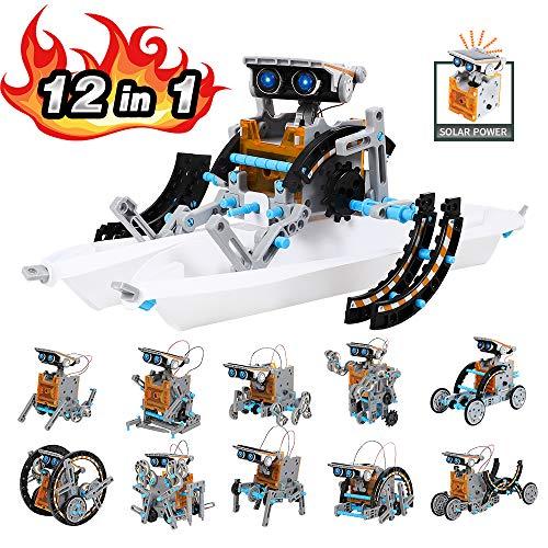 Lucky Doug Solar Robot Kit 12-in-1 Science STEM Robot Kit