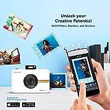 Polaroid Snap Touch - Cámara digital con impresión instantánea y pantalla LCD con tecnología Zero Zink, negro