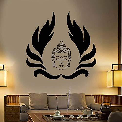 WERWN Papel Pintado Creativo del Vinilo de la Yoga de la Cabeza de Buda para la decoración casera de la Sala de Estar del Dormitorio