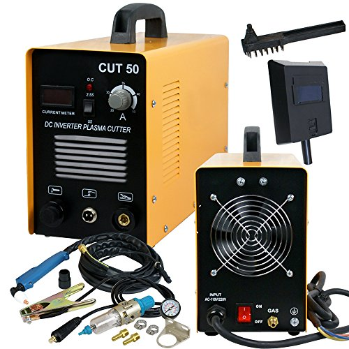 SUPER DEAL DC Inverter Plasma Cutter Cutting Machine With Screen Display Dual Voltage 110/220V AC 1/2'' Clean Cut (CUT 50)