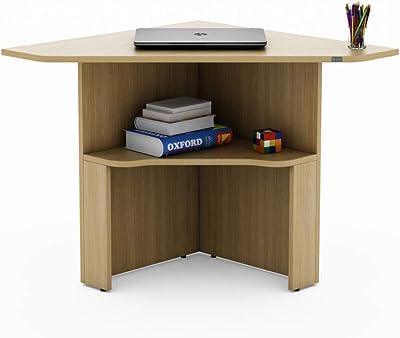 SOS Spacewood LiteOffice Cornerstar Home and Office Table (Urban Teak)