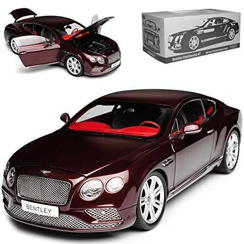 bester Test von bentley continental gt Paragon Bentley Continental GT Coupé LHD Burgunderrot 2. Generation 2011-20181 / 18 Modell…