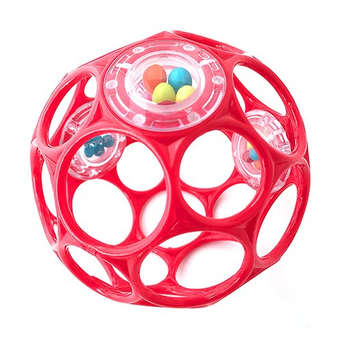Oball - Rattle 10 cm Spielzeug mit Rasselperlen Rot