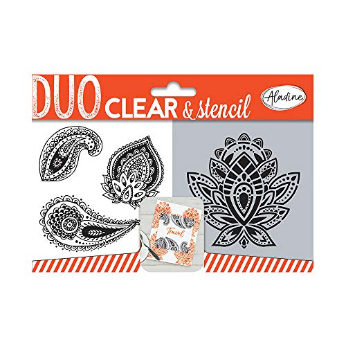 Aladine 04317 Duo Clear with Stencil Paisley