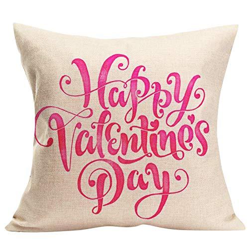 Janly Clearance Sale Funda de almohada, funda de cojín de lino para sofá, decoración del hogar, para Navidad, hogar y jardín, (C)