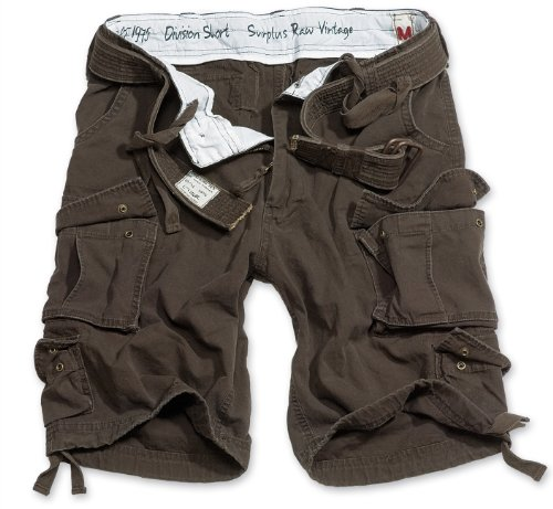 Surplus Division Herren Cargo Shorts, braun, M