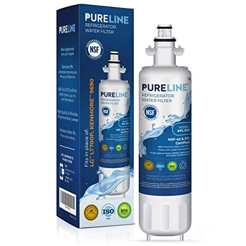 Price comparison product image Pureline 9690 & LT700P Water Filter Replacement. Compatible with Kenmore Elite 9690,  LG LT700P,  ADQ36006101,  Kenmoreclear 46-9690 & HDX FML-3.