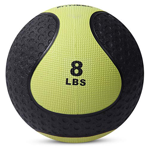 Medicine Exercise Ball with Dual Texture for Superior Grip by Day 1 Fitness - 8 Pounds - Fitness Balls for Plyometrics, Workouts - Improves Balance, Flexibility, Coordination