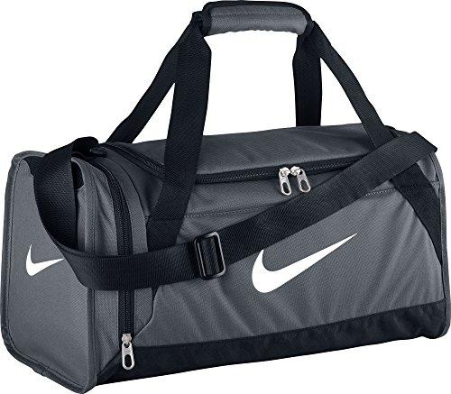Nike Silia 6 Duffel X-Small Borsone, Flint Grey/Nero/Bianco, Taglia Unica