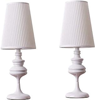 Lámparas de mesita de noche - Lámparas pequeñas para mesita de noche Juego de 2 con pantalla de tela, Lámpara de mesa de noche para sala de estar, oficina, dormitorio, habitación infantil, habitación