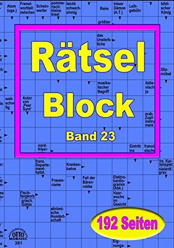 XL-Rätsel-Block in grosser Schrift: 384 Seiten Rätselspass - Schwedenrätsel für Freizeit, Urlaub oder zu Hause - 2 Hefte im Block-Format 14,5 x 21 cm a 192 Seiten