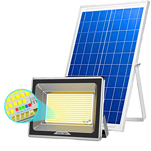 Foco Solar LED Exteriores, Impermeable Resistente Calor Proyector LED Solar Street Road,...
